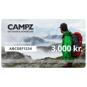 CAMPZ Gavekort 3000 kr.